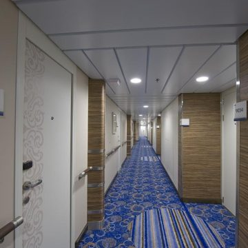 Hallway in a cruise ship